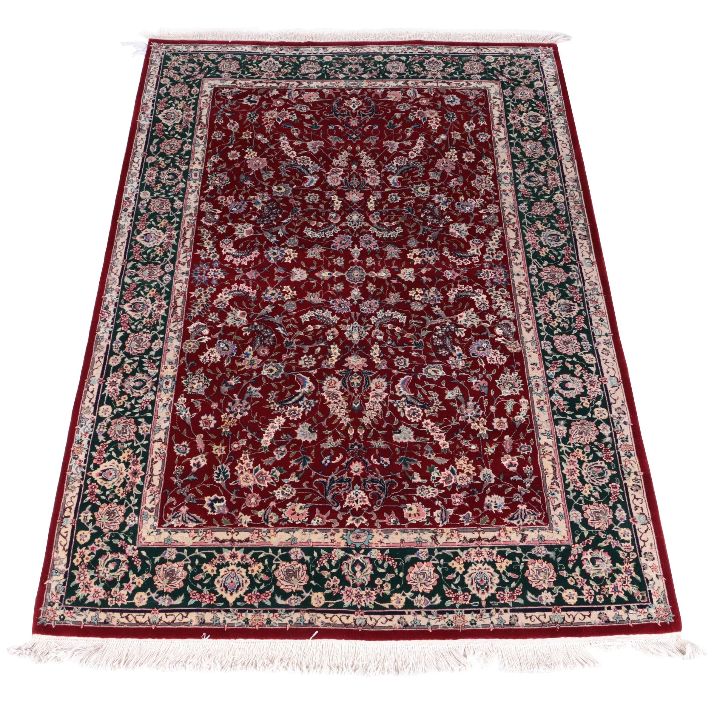Hand-Knotted Sino-Persian Art Silk Area Rug