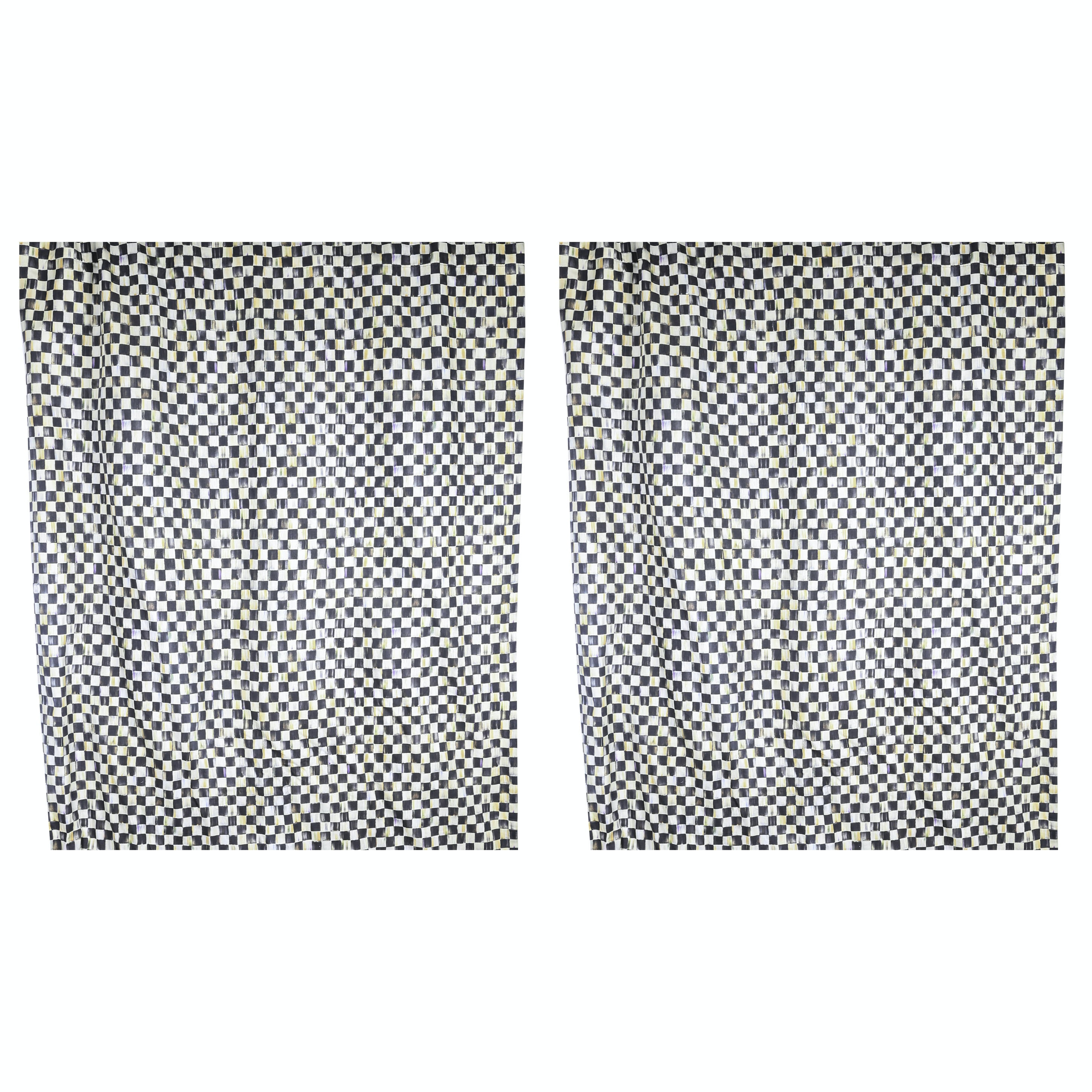 "MacKenzie-Childs ""Courtly Check"" Short Curtain Panels"