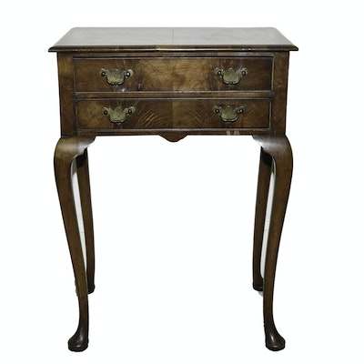 English Antique Queen Anne Style Side Table