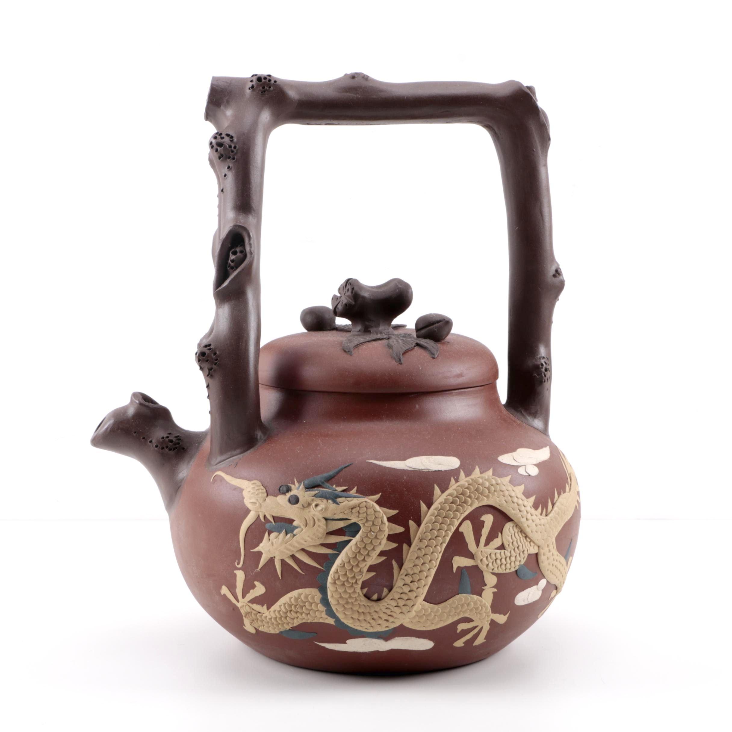 Decorative Chinese Stoneware Teapot