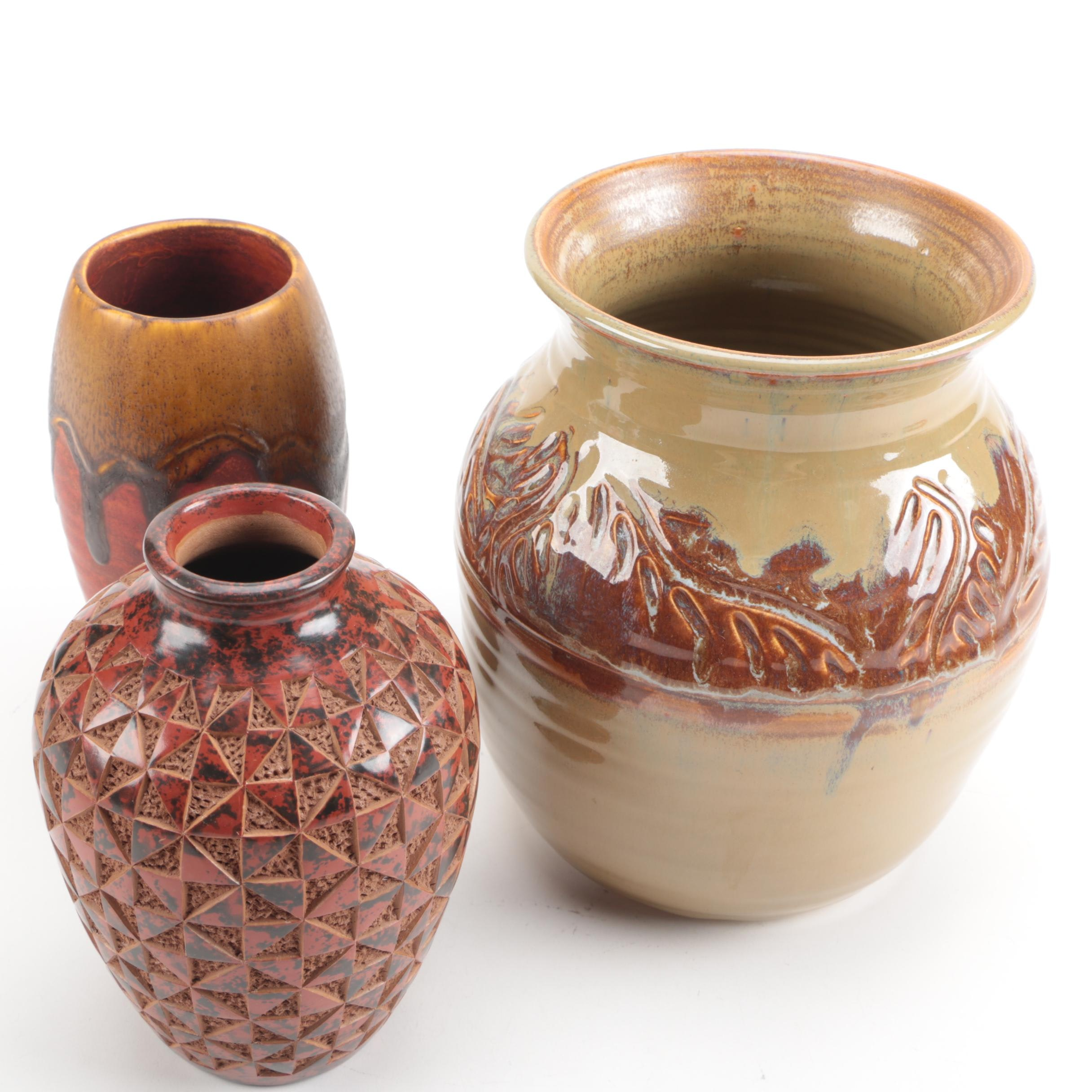 Collection of Decorative Pottery Vases