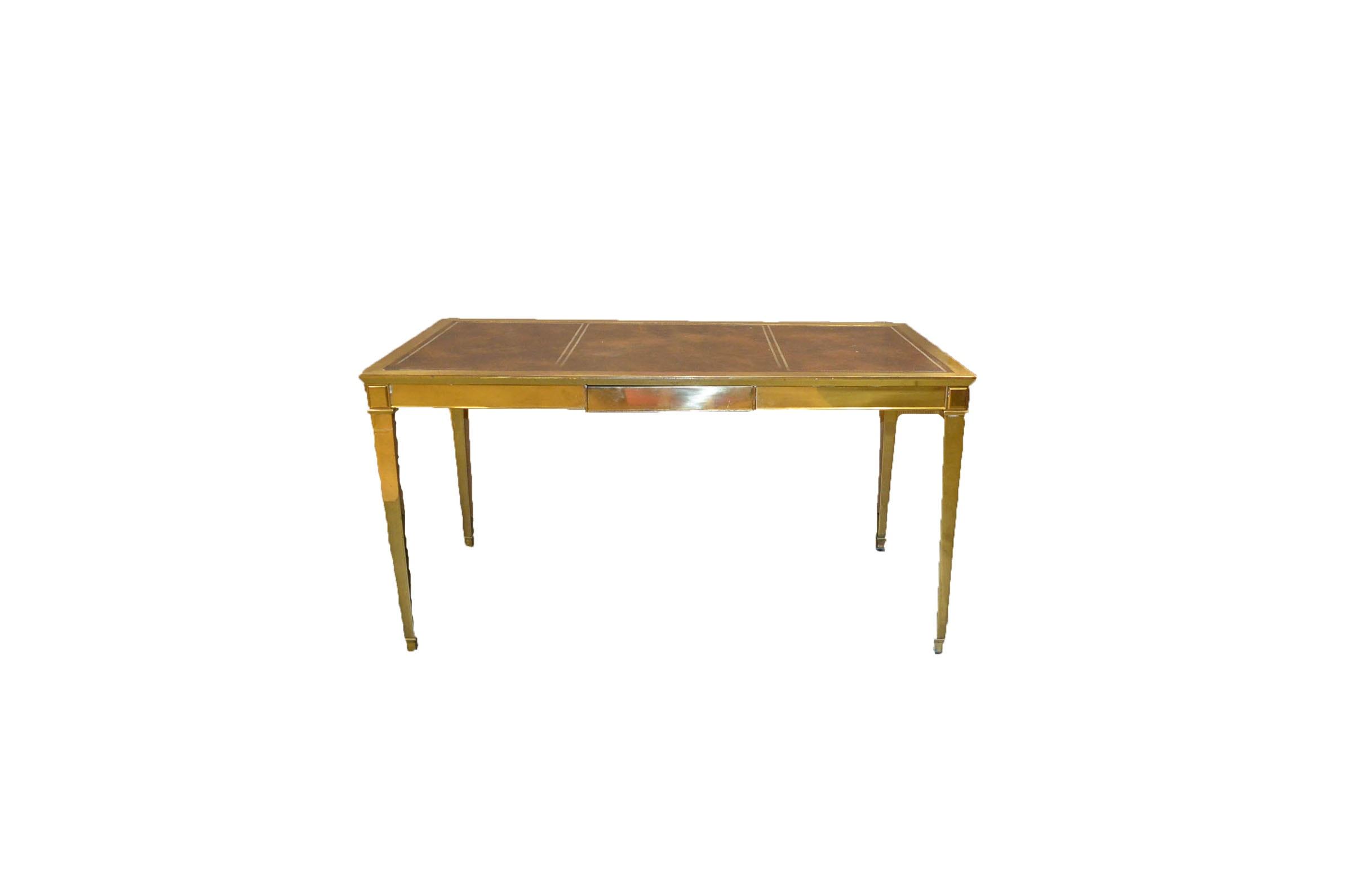 Vintage Brass Desk