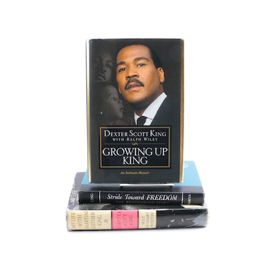 Collection of King Family Books Including a Signed Dexter Scott King First Edition