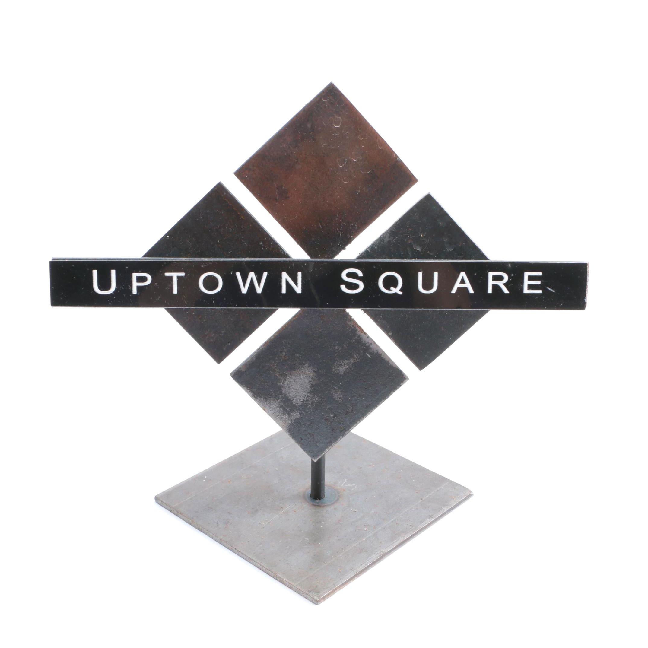 "Metal Sculpture ""Uptown Square"" by Puzio's Iron Studio"