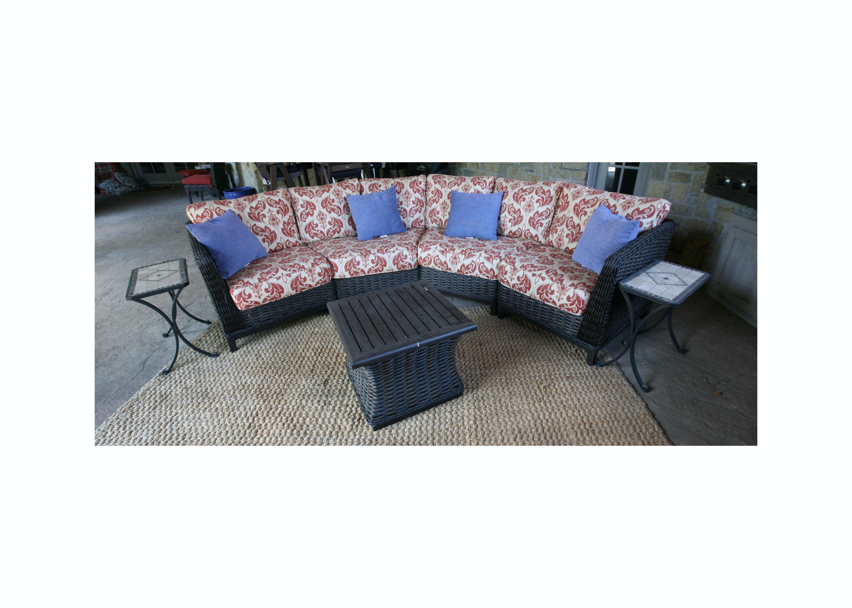 "Patio Renaissance ""Catalina"" Sectional Sofa and Tables"