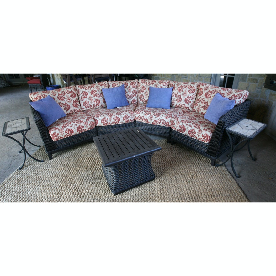 Super Patio Renaissance Catalina Sectional Sofa And Tables Squirreltailoven Fun Painted Chair Ideas Images Squirreltailovenorg