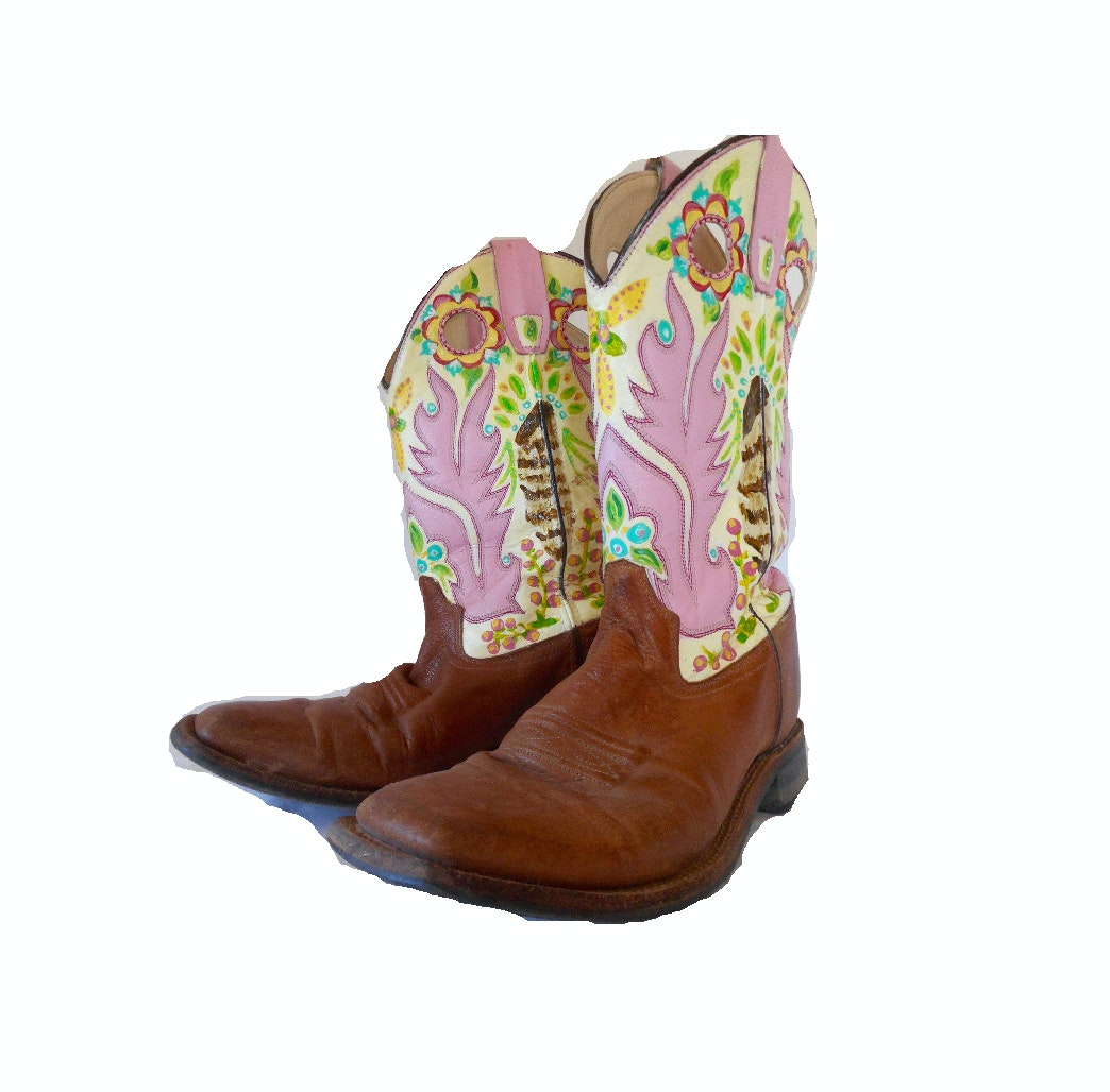 Hand-Painted Women's Cowboy Boots