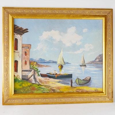 Haller Original Oil Landscape Painting