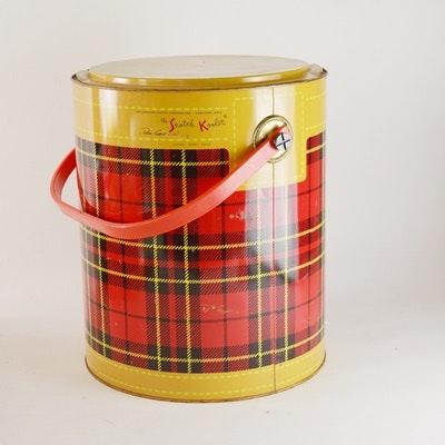 Skotch Kooler Plaid Metal Cooler