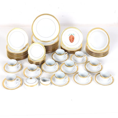 "Royal Gallery China Set Featuring ""Gold Buffet"" Pattern"