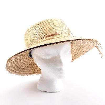 Oscar de la Renta Straw Hat