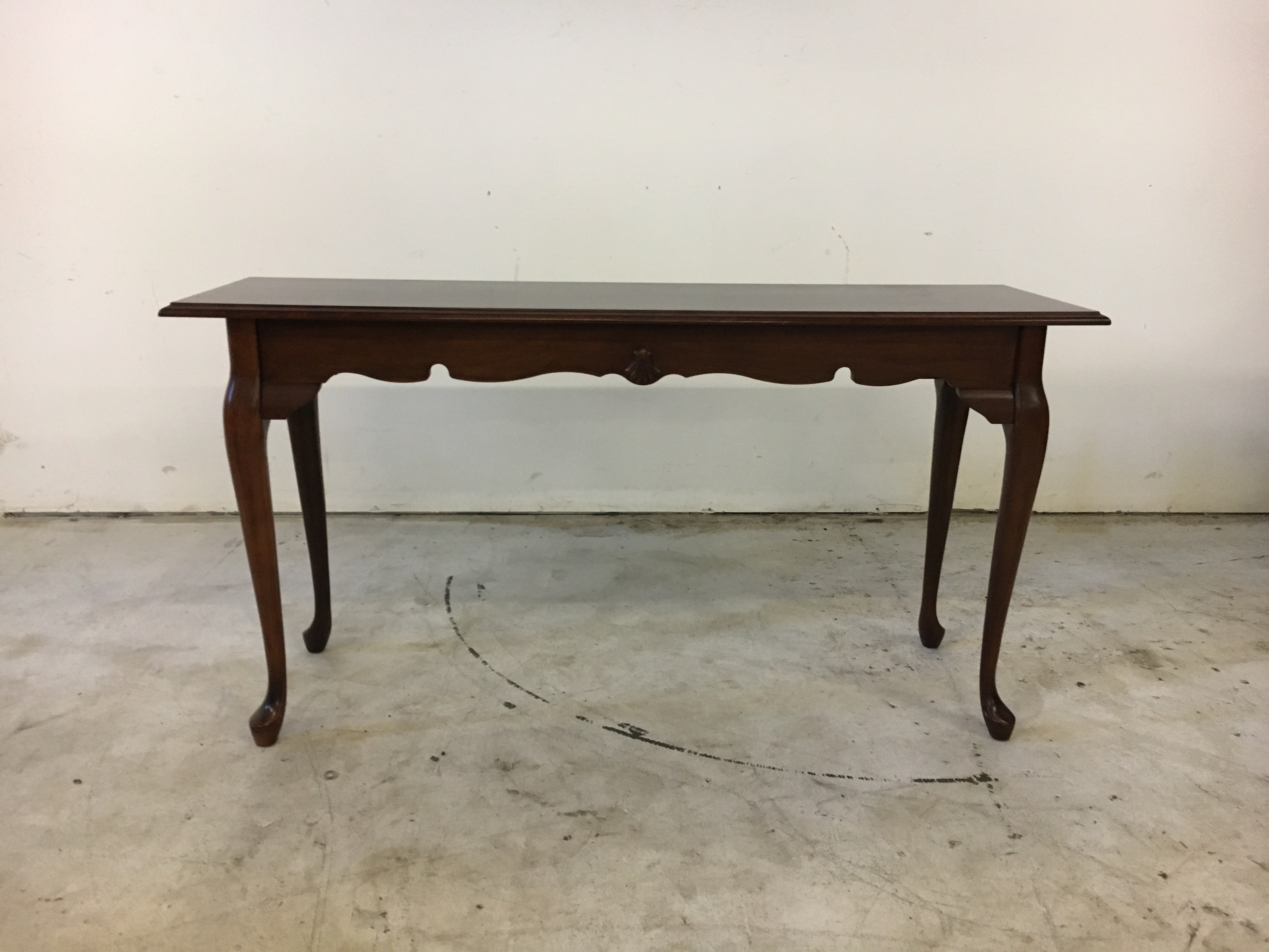 Cherry Queen Anne Console Table