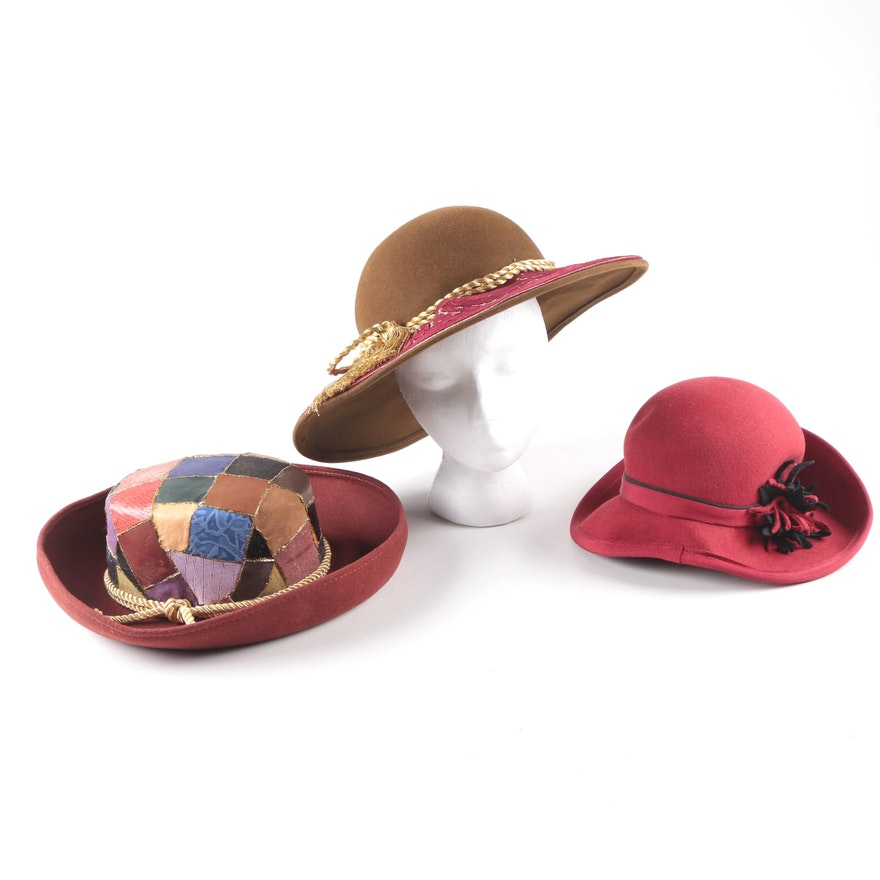 Wool Felt Hats Including B Michael New York