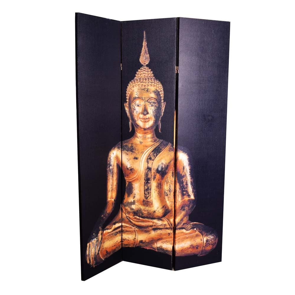 Canvas Thai Buddha Room Divider EBTH