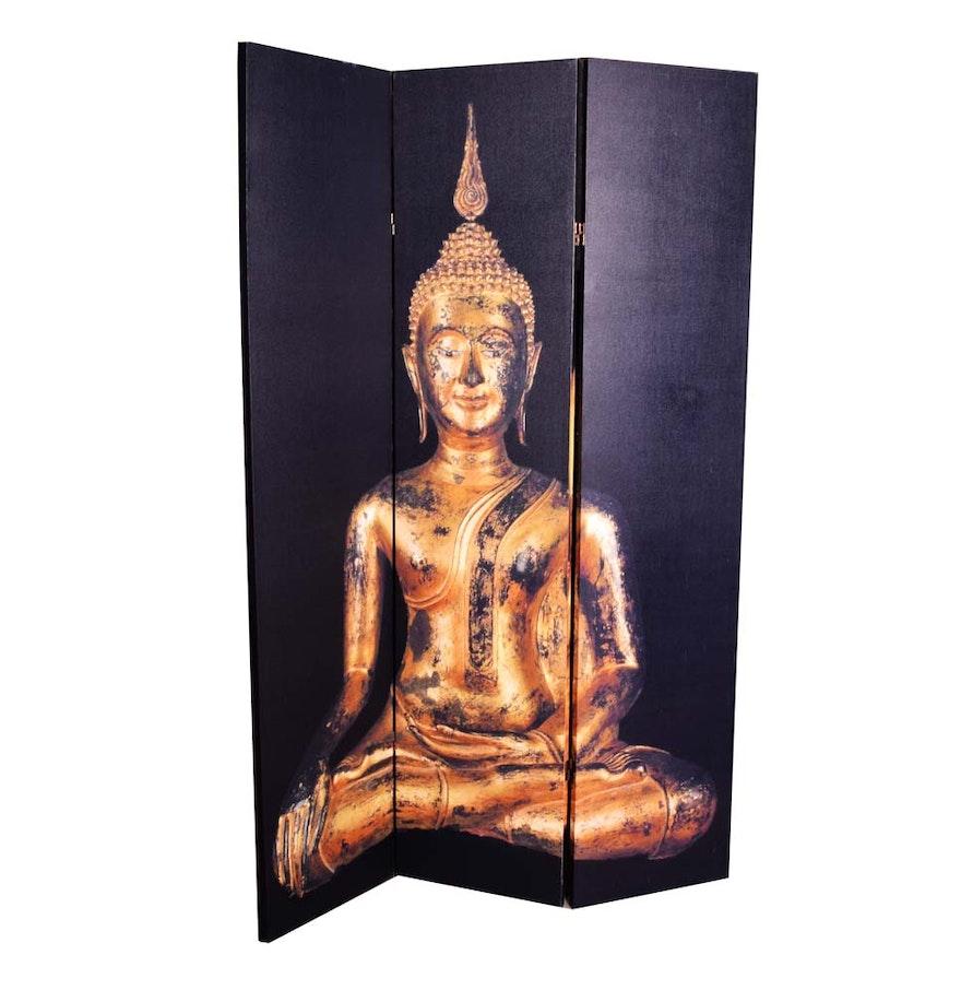 Buddha Room Divider Screen