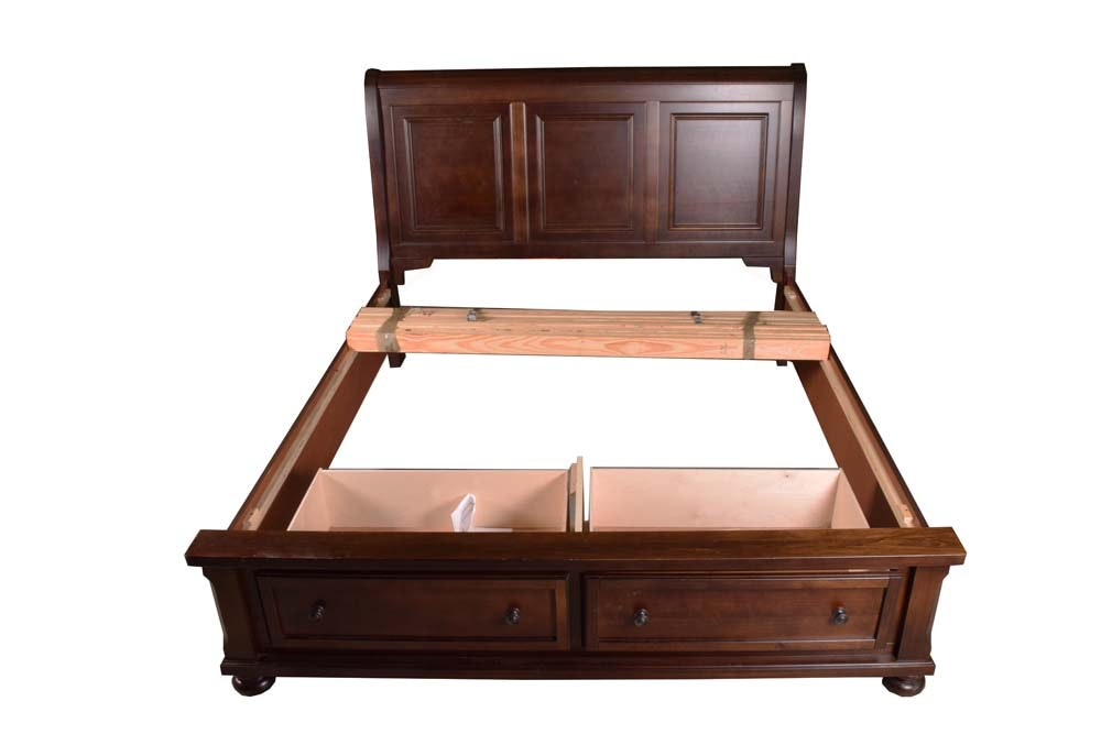King Size Bed Frame With Storage Drawers by Vaughan-Bassett
