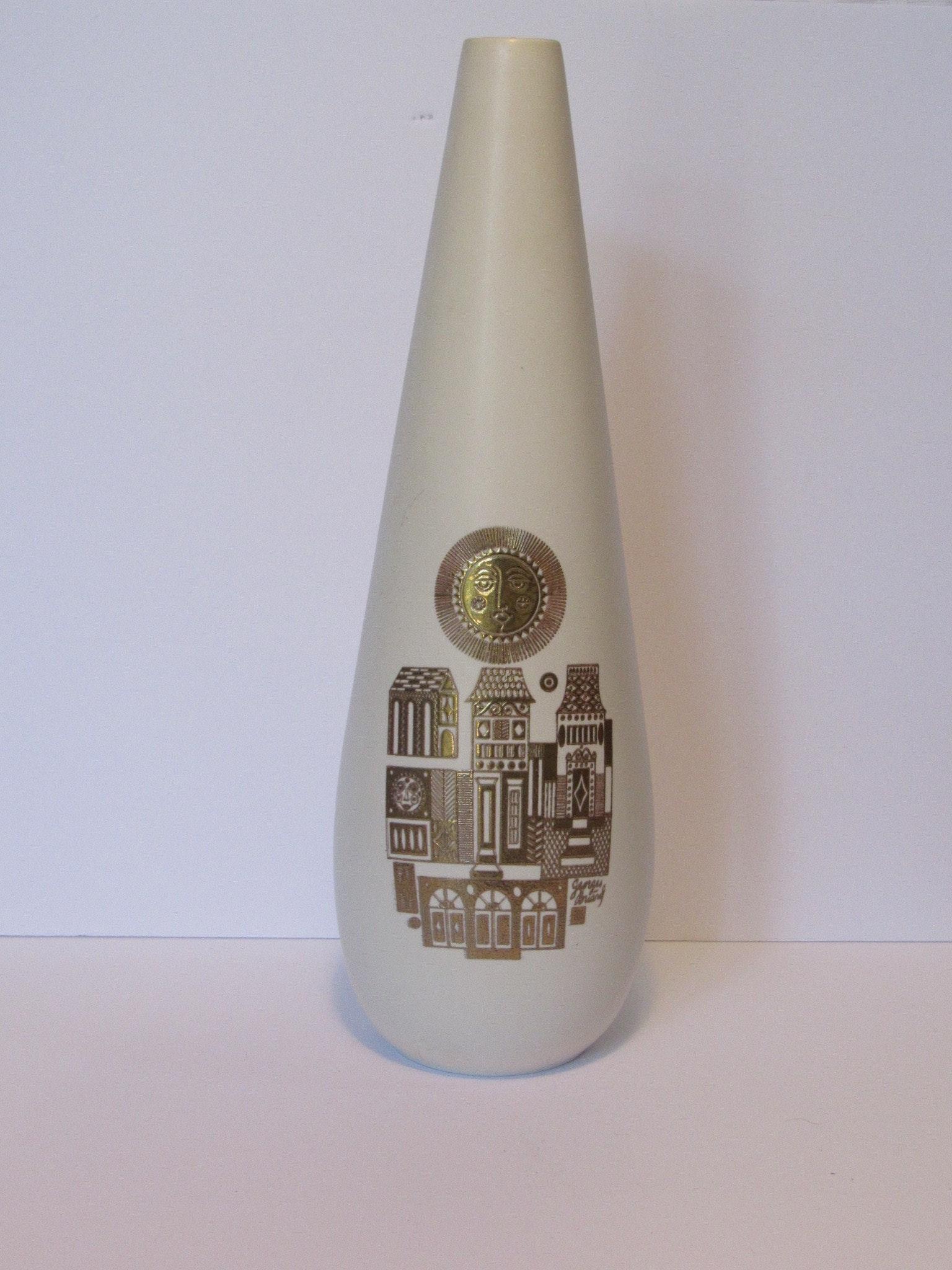 Georges Briard Mid Century Modern Hyalyn Vase