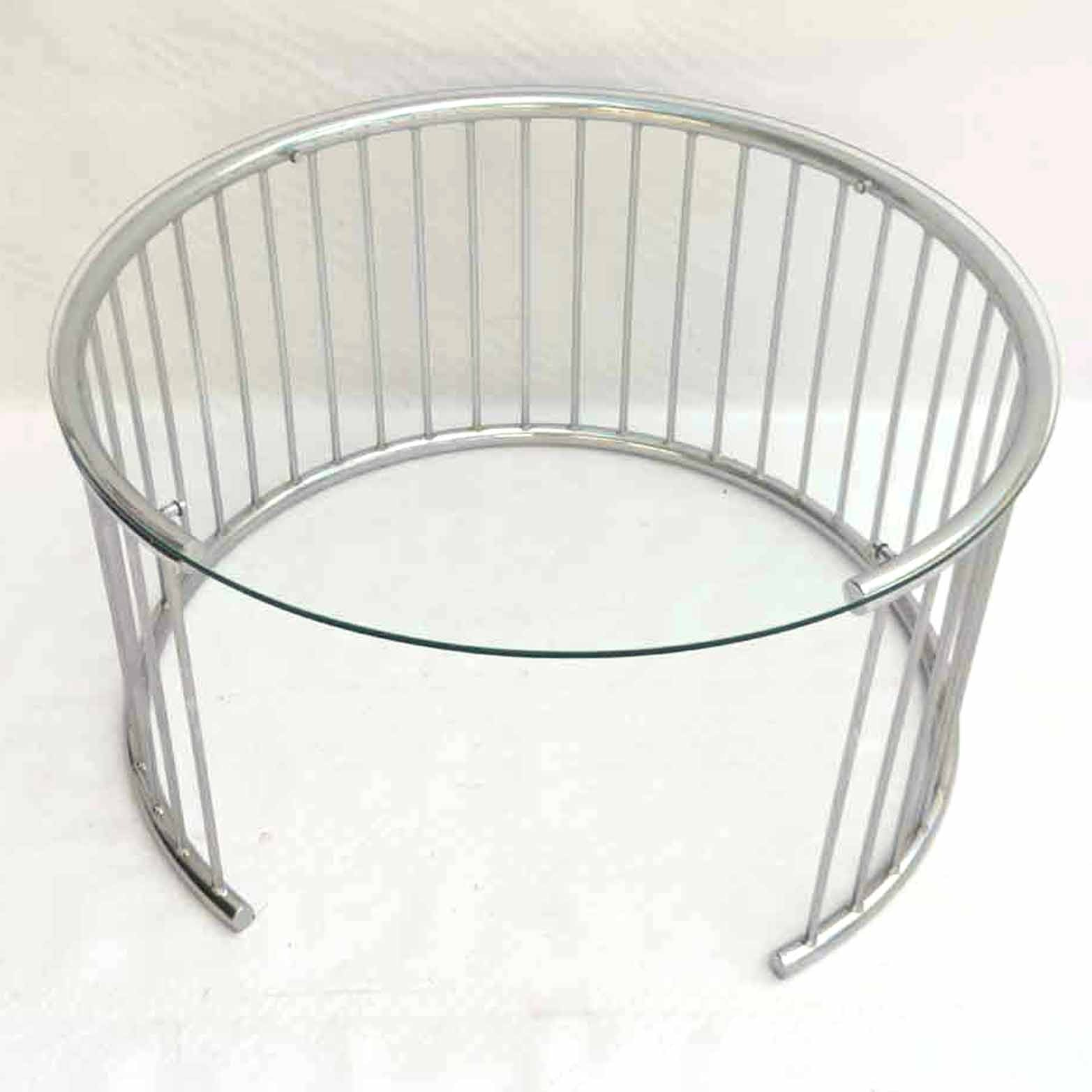 Modern Style Accent Table With Crescent Base