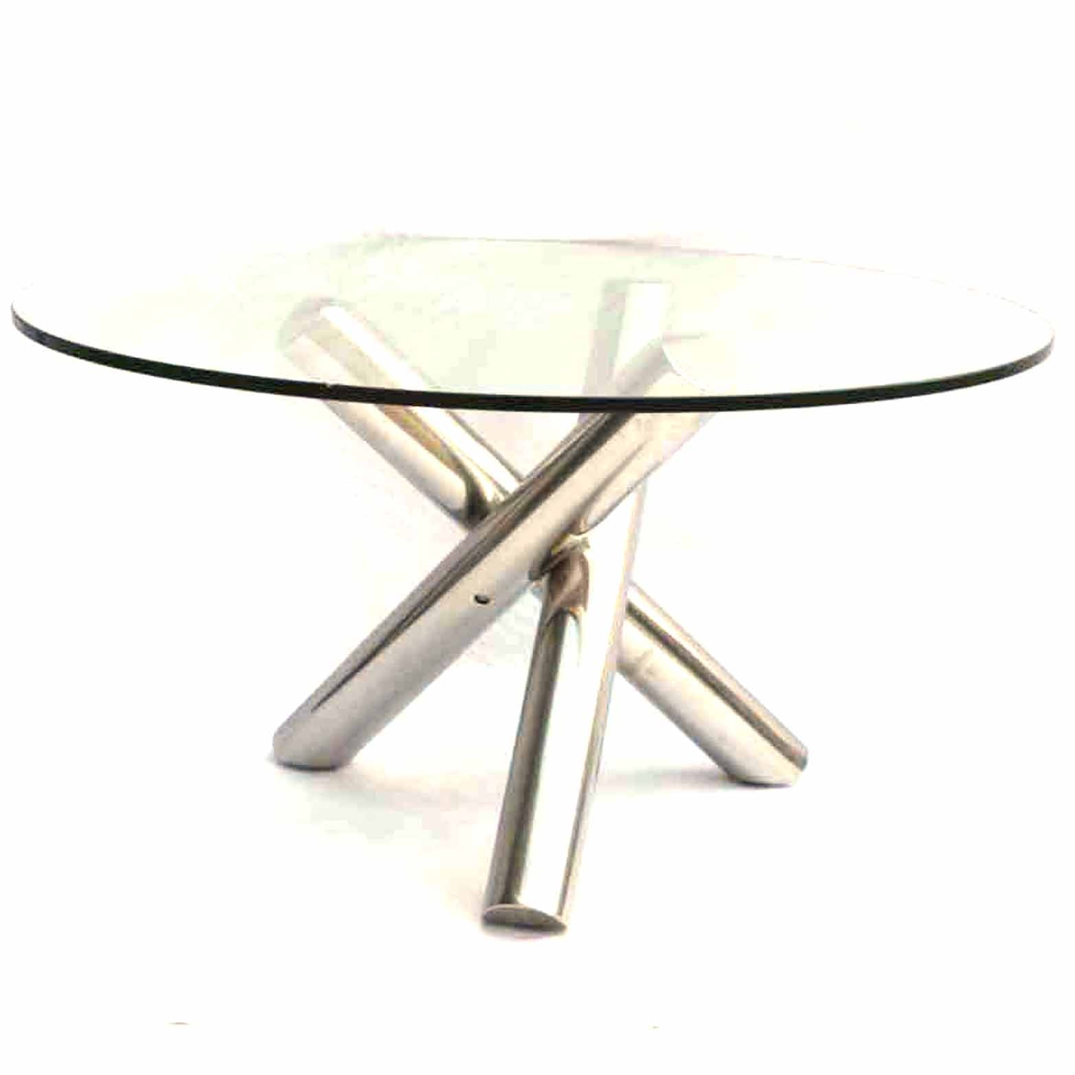 Modern Style Glass and Chrome Accent Table