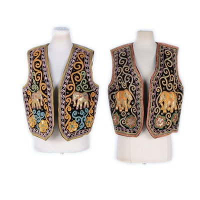 Carol Horn Workshop Sequin Embroidered Vests