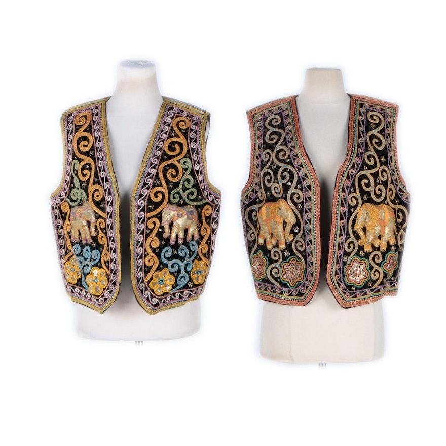 Carol Horn Workshop Sequin Embroidered Vests