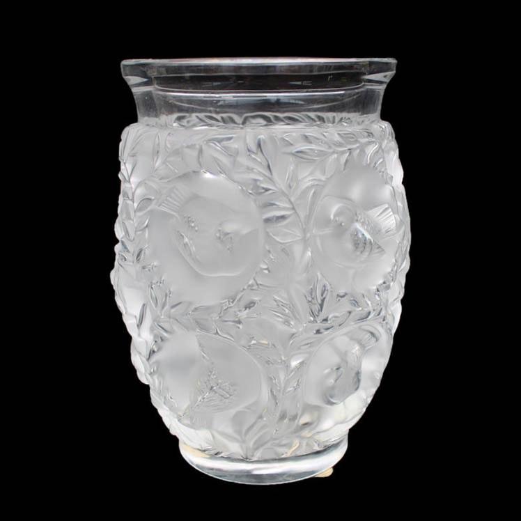 """Lalique France """"Bagatelle"""" Crystal Vase"""