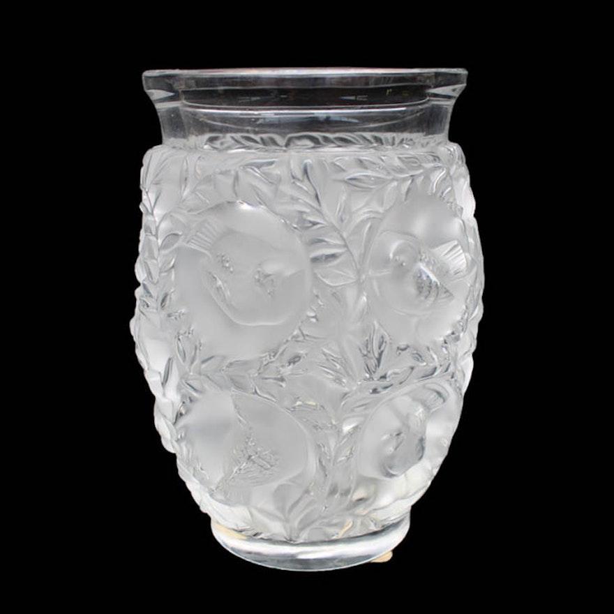 Lalique France Bagatelle Crystal Vase Ebth