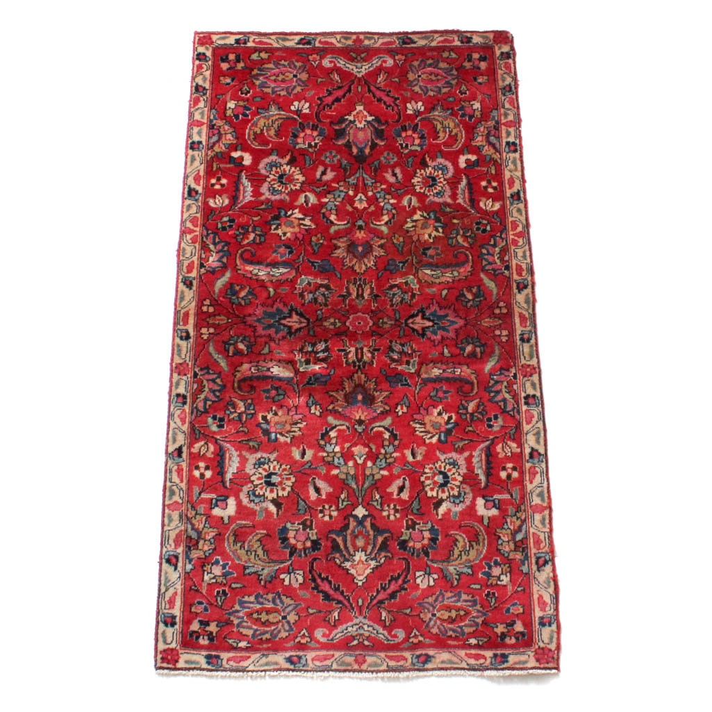 Semi-Antique Hand Knotted Persian Tabriz Area Rug