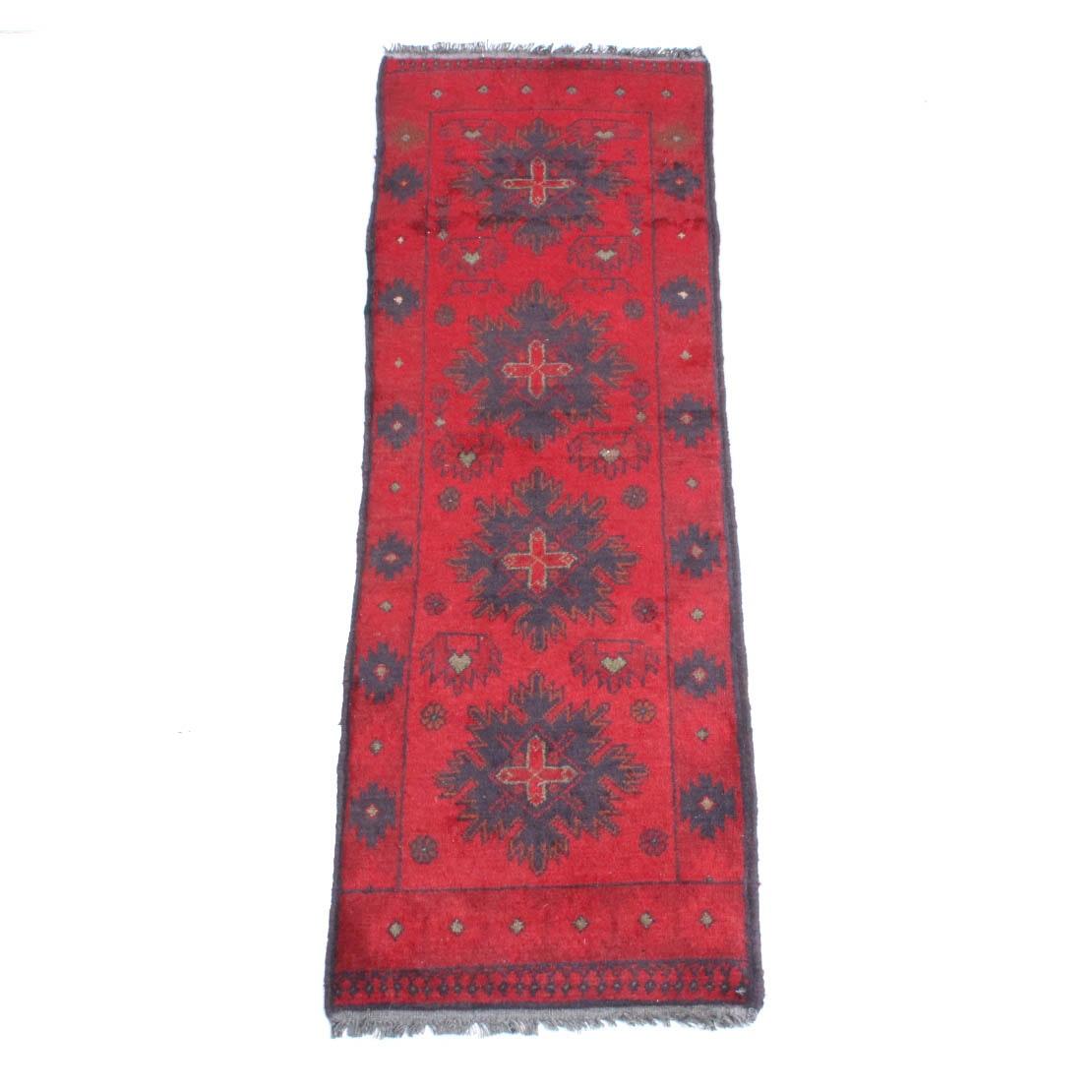 Hand Knotted Afghani Turkmen Carpet Runner