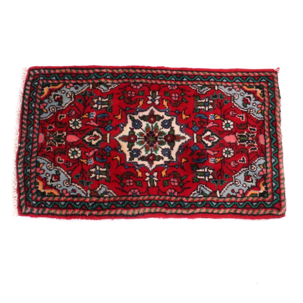 Hand Knotted Persian Mahal Accent Rug