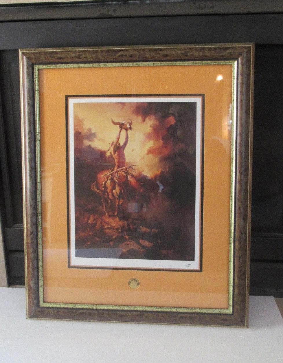 "Buck McCain Limited Edition Print ""Prayer to the Healing Spirit"""