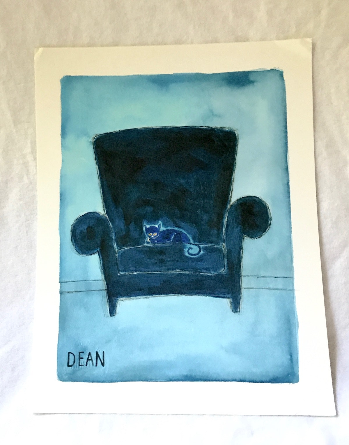 "Signed ""Pete The Cat"" Giclee by James Dean"
