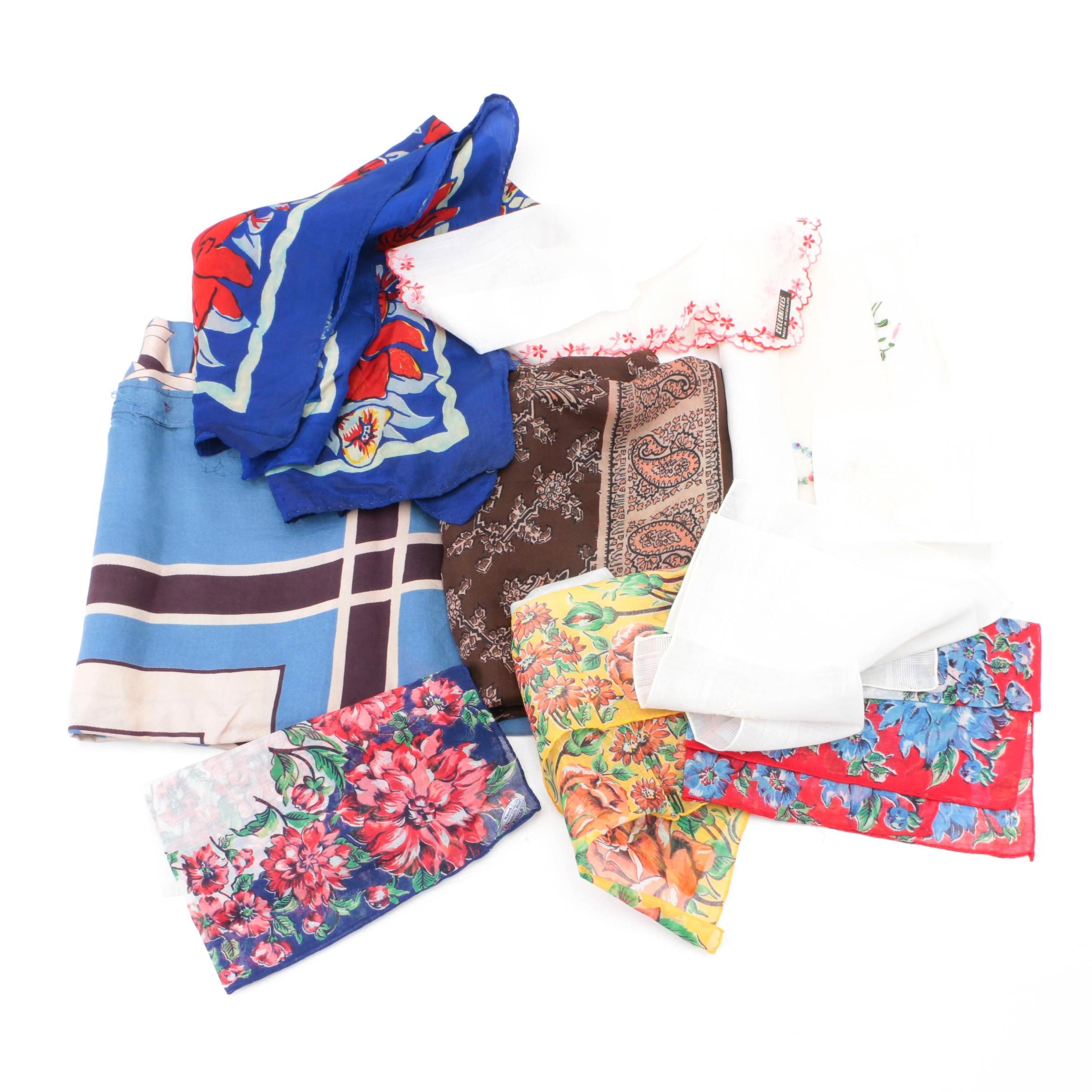 Vintage Scarves and Handkerchiefs