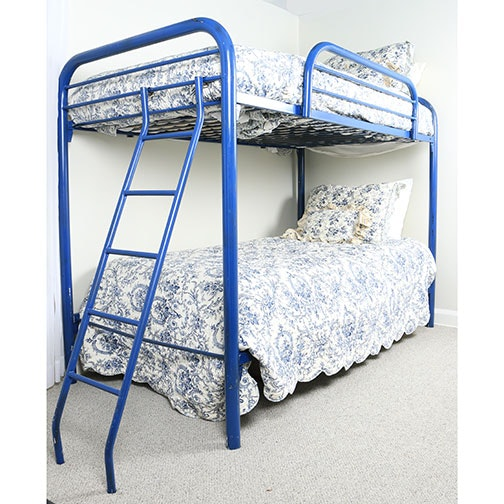 Metal Bunk Beds With Toile Bedding