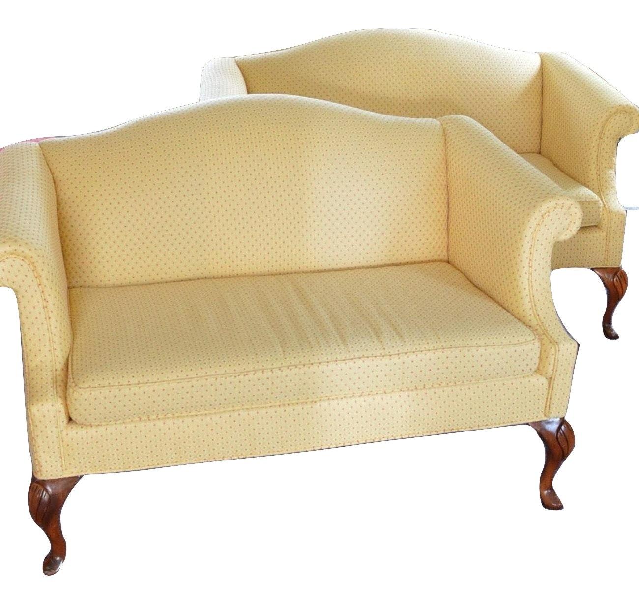 Pair of Upholstered Loveseats