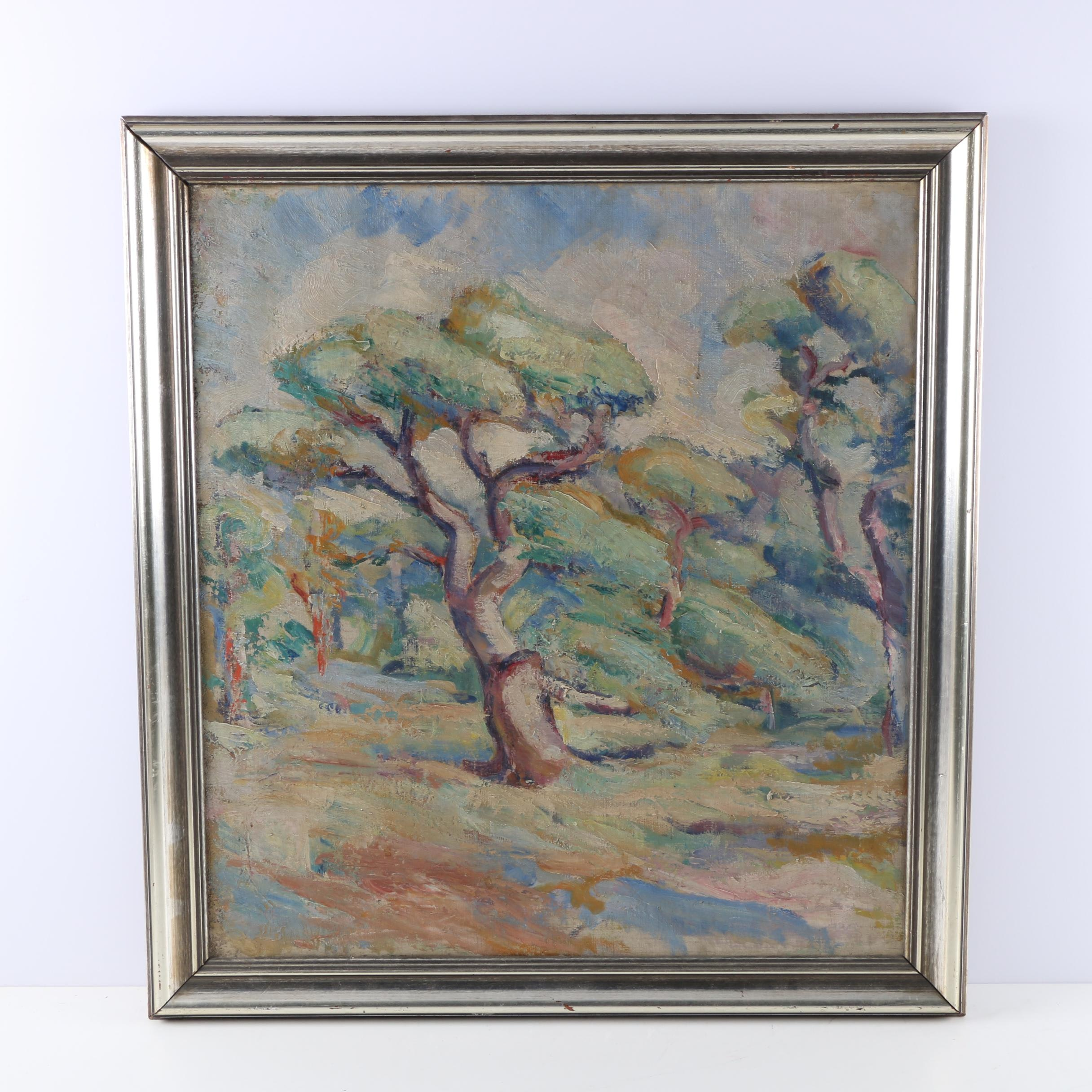 Oil on Canvas Expressionist Landscape Painting