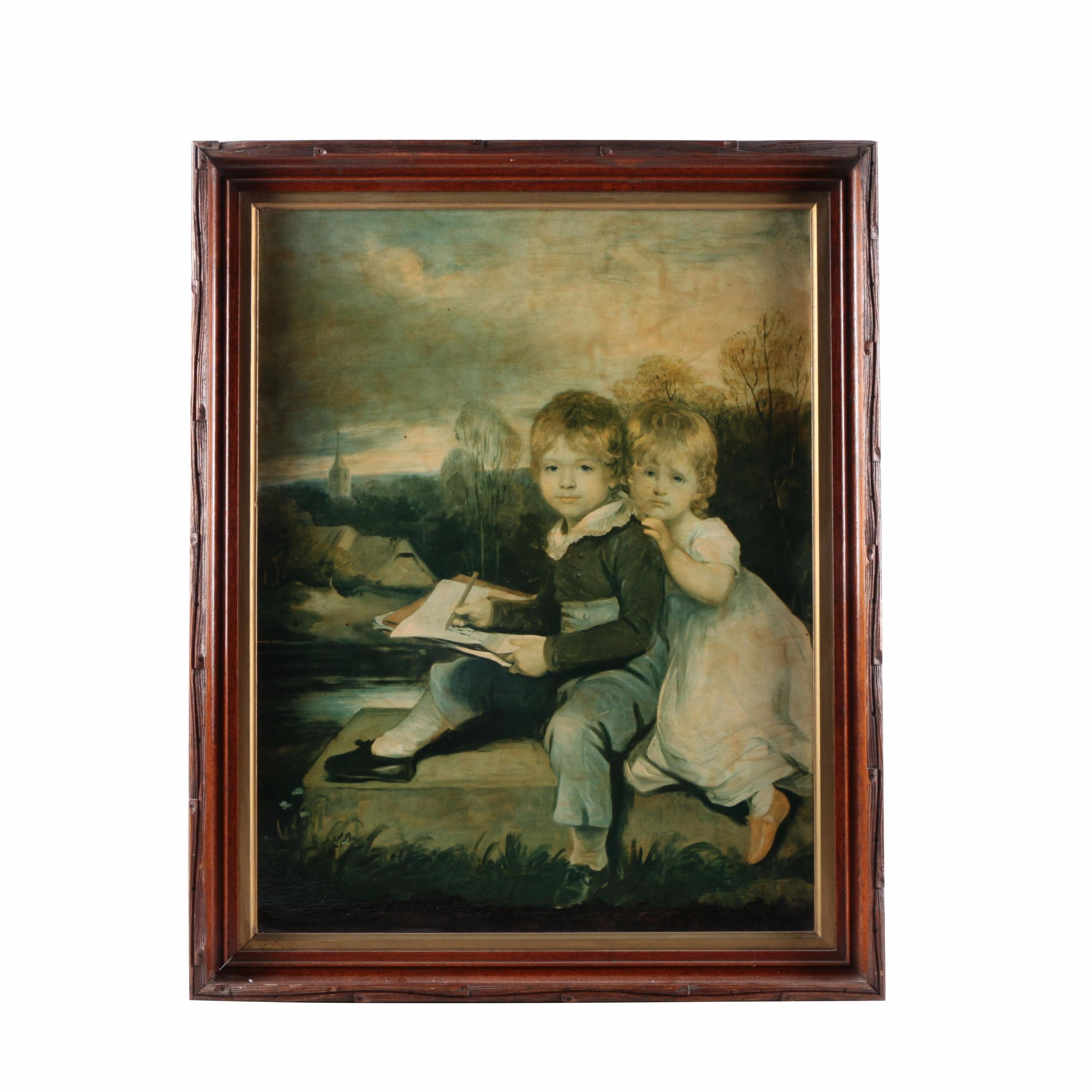 "Oil Painting on Board After John Hoppner's ""The Bowden Children"""