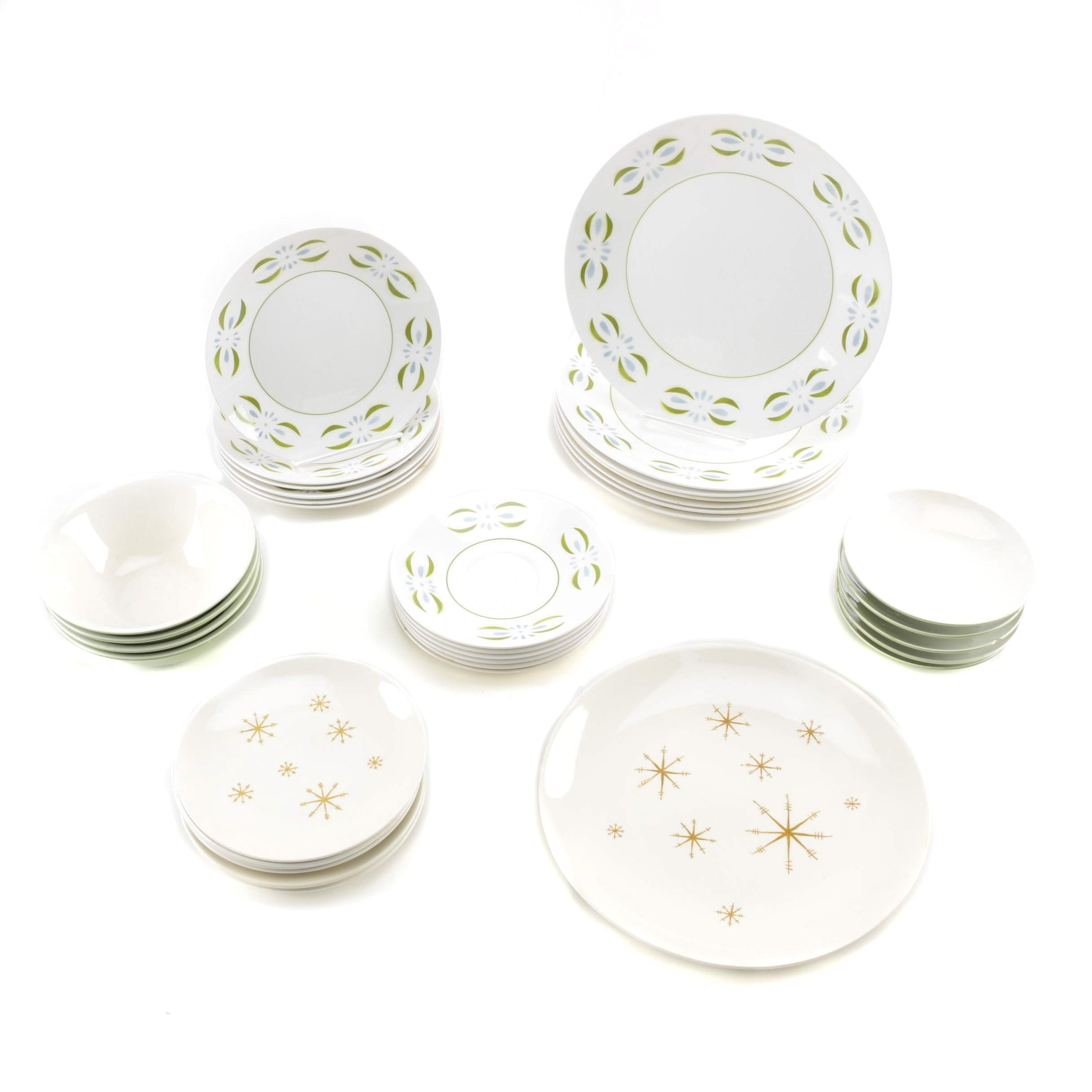 Selection of Ceramic Plates Featuring Star Glow and Mikasa