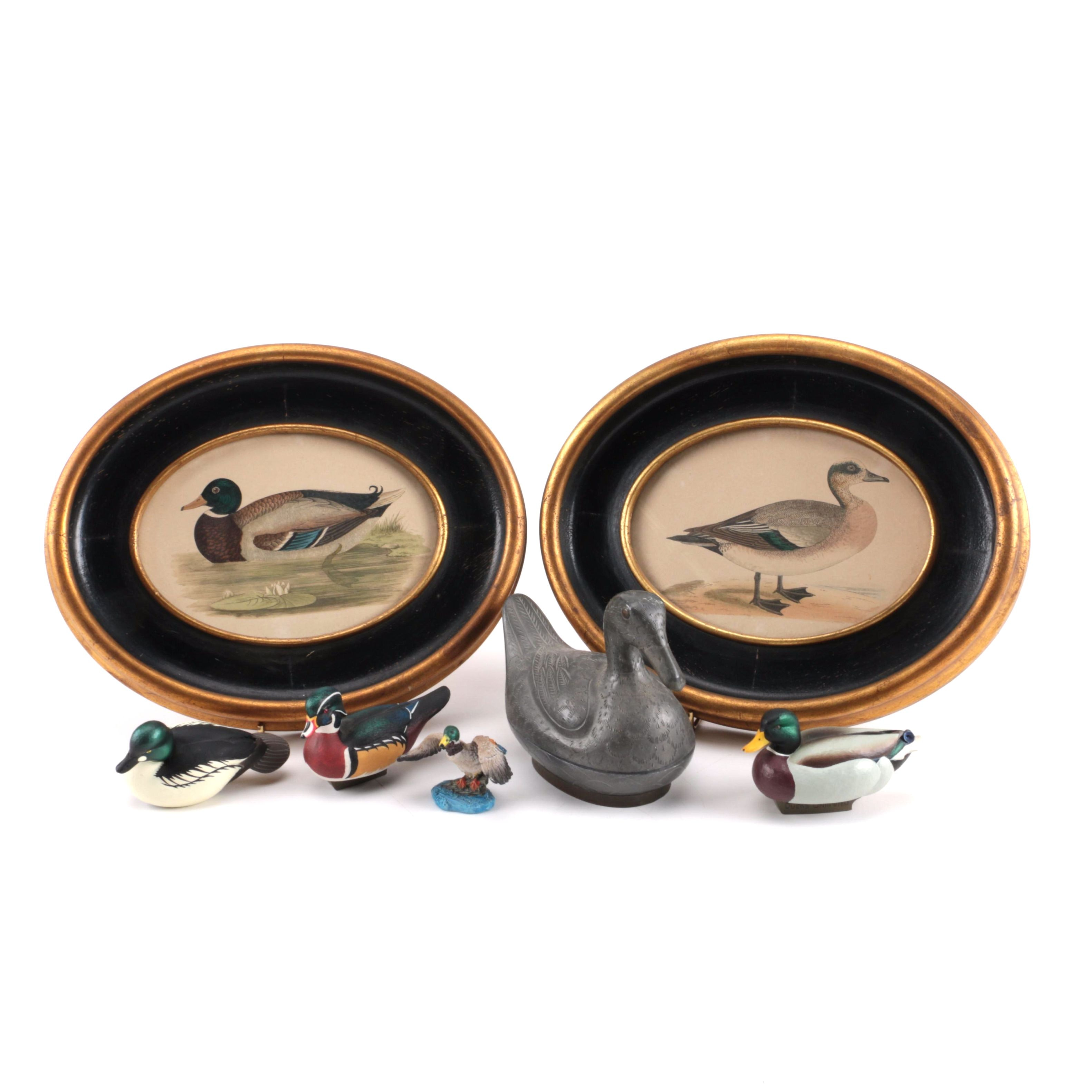 Duck Themed Home Decor including Colored Lithographs