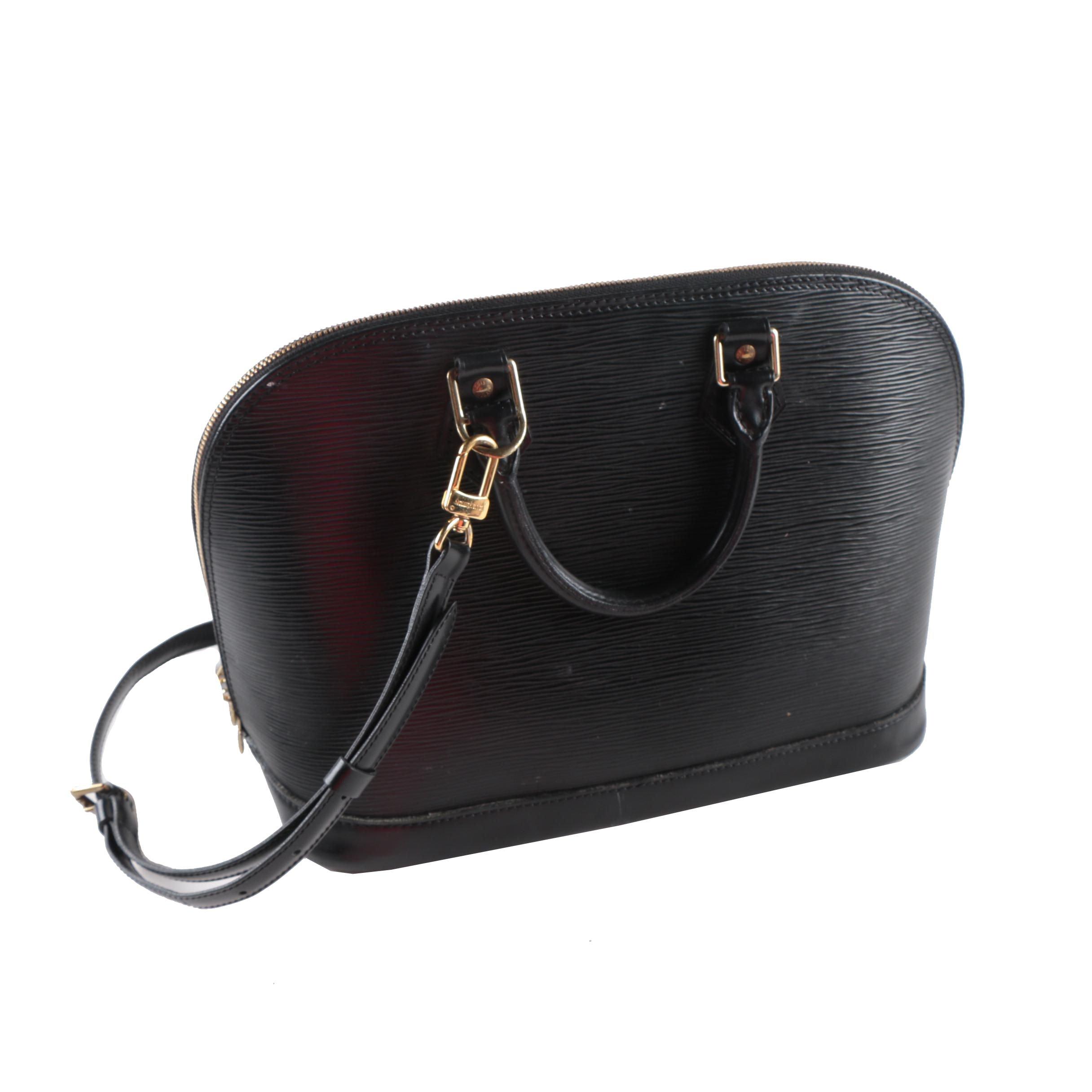Vintage Louis Vuitton Alma Black Epi Leather Satchel