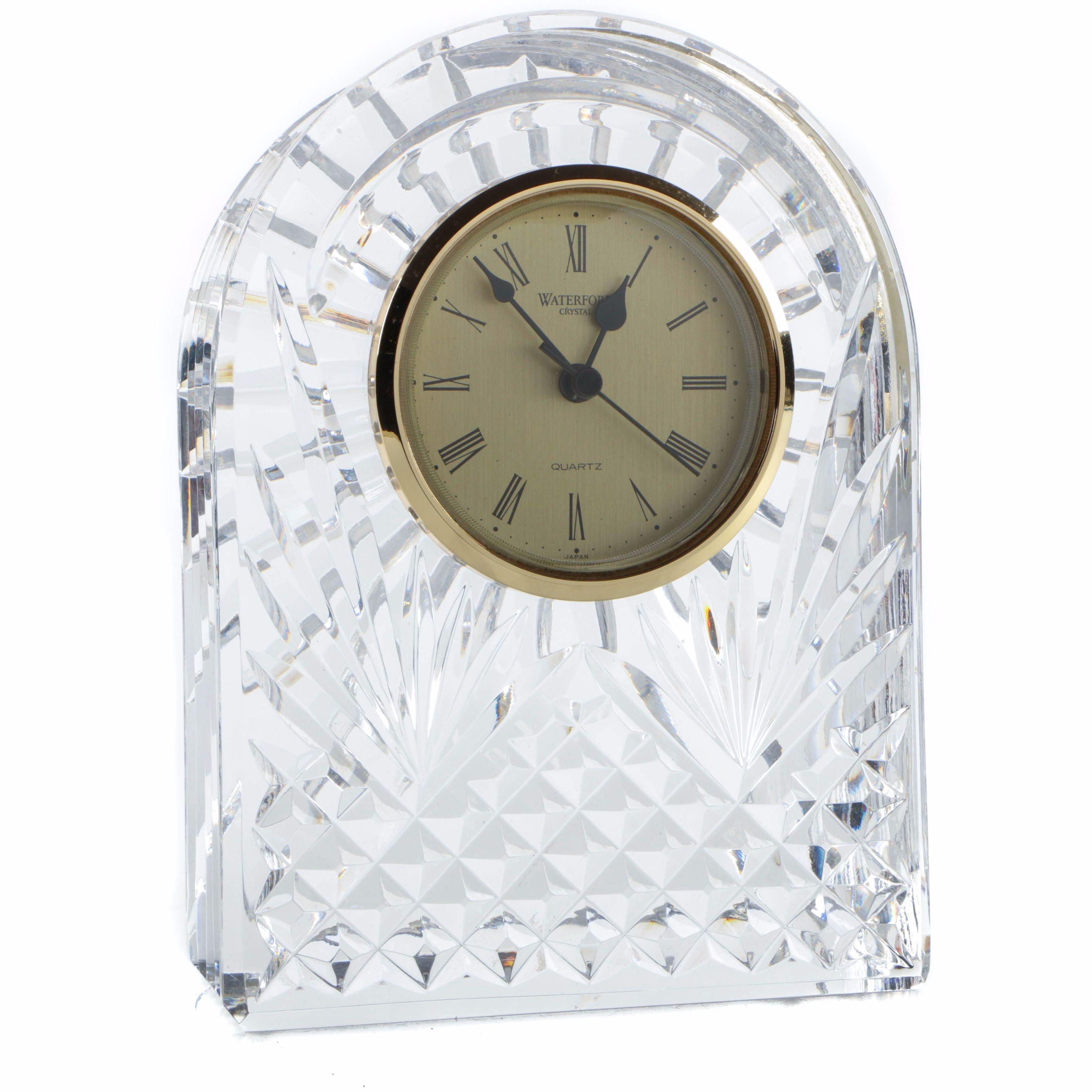 Waterford Analog Crystal Mantle Clock