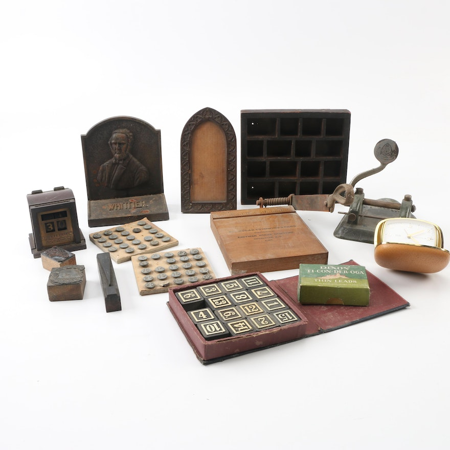 Assorted Vintage and Antique Desk Accessories ... - Assorted Vintage And Antique Desk Accessories : EBTH