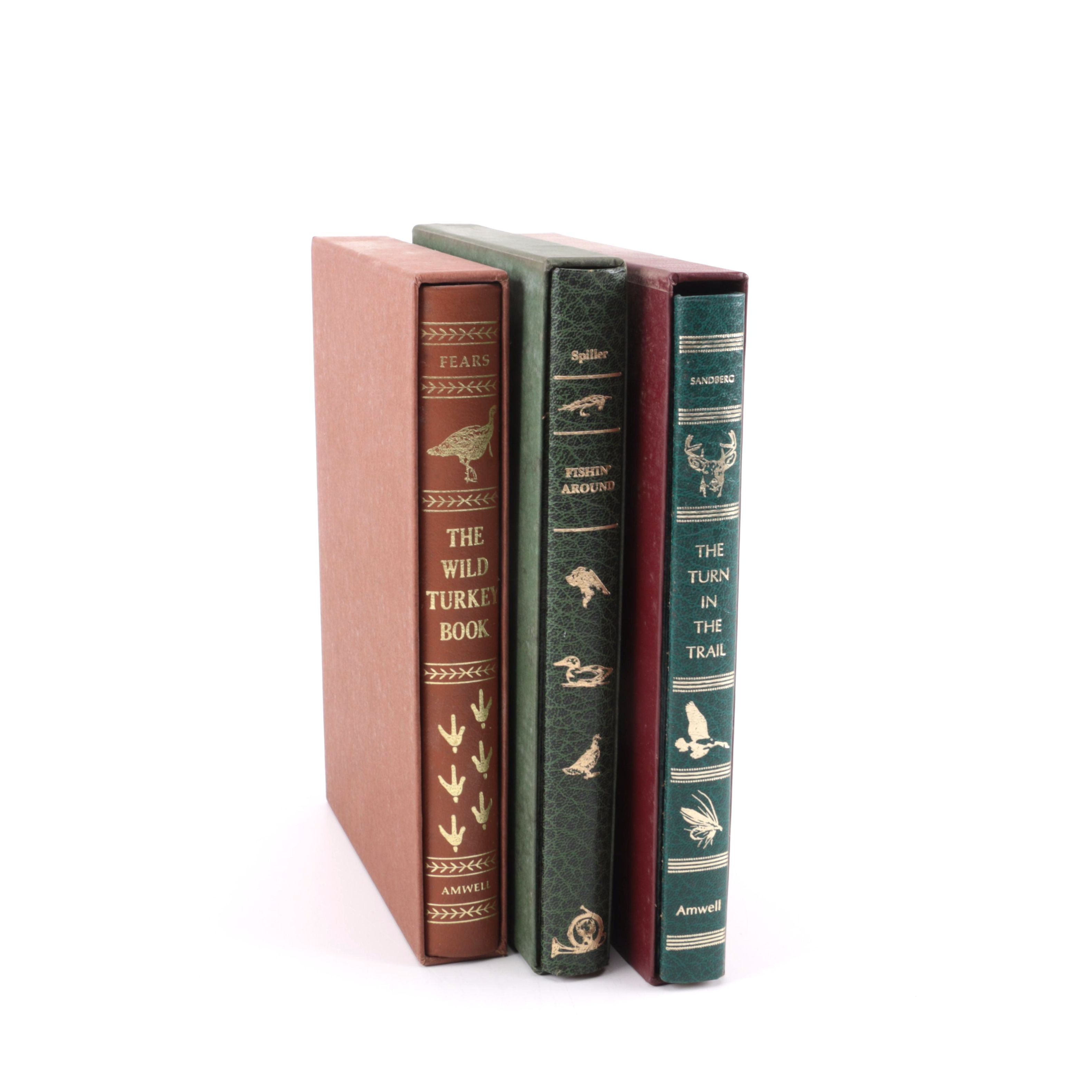 Amwell Press Leather Bound Editions of Hunting, Fishing and Nature Books