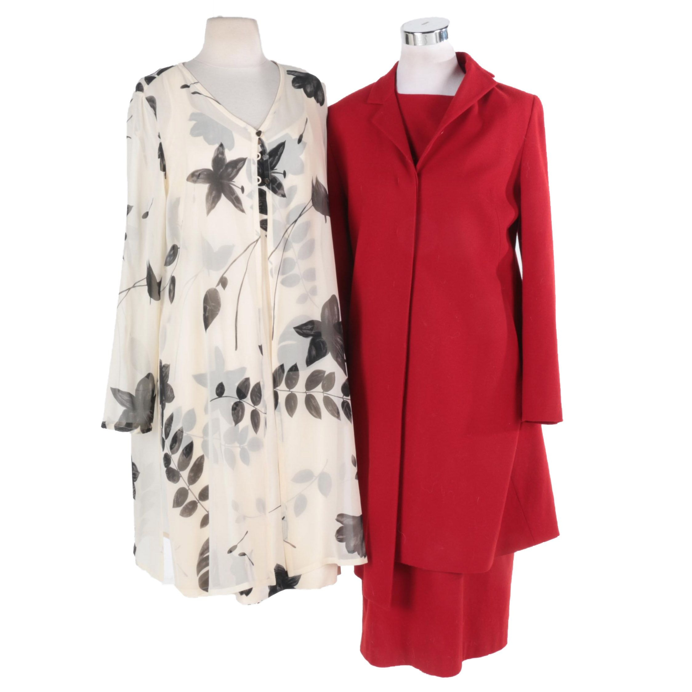 Dana Buchman Silk and Anne Klein Wool Dress Suits