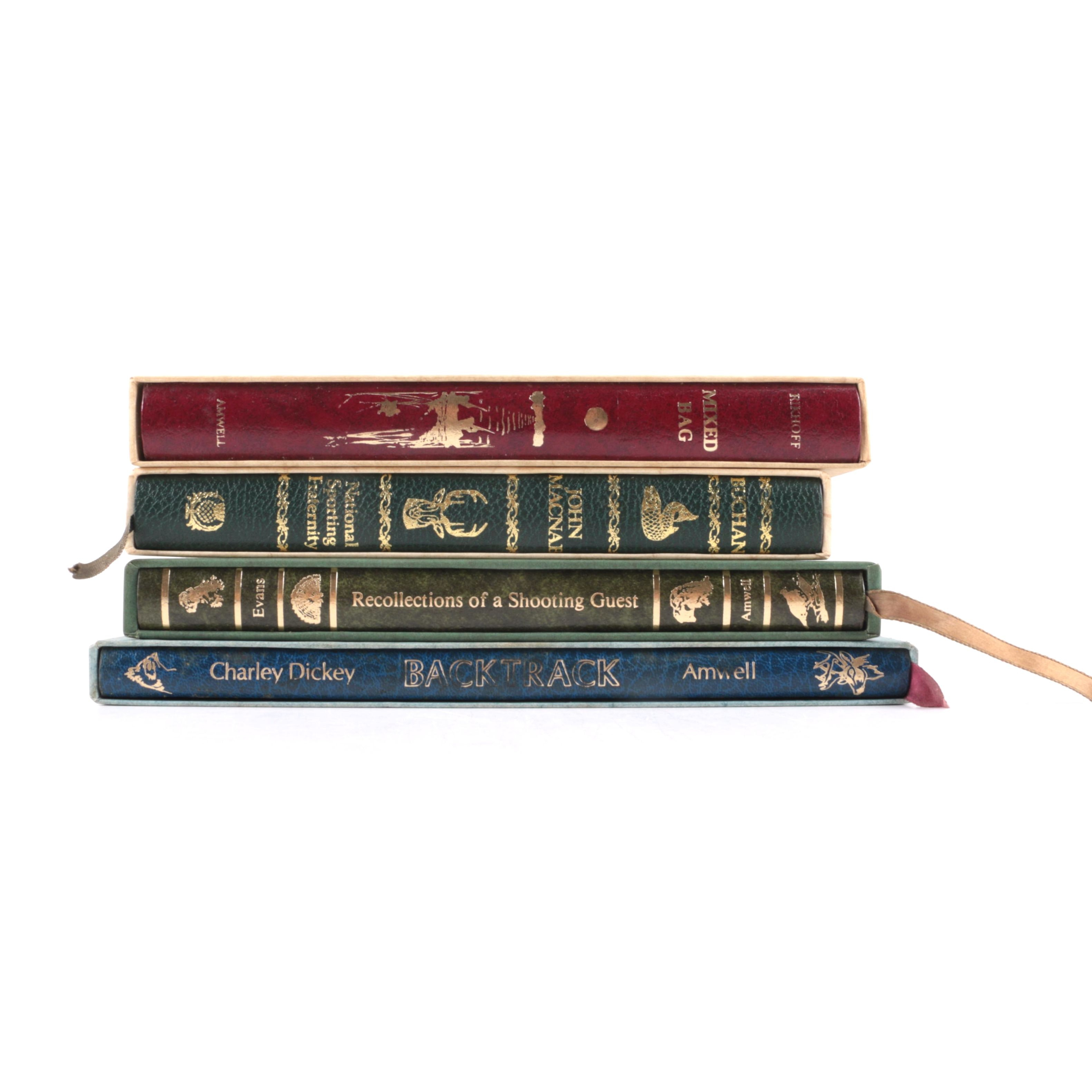 National Sports Fraternity Limited and Amwell Press Leather Bound Books Including Signed Copies