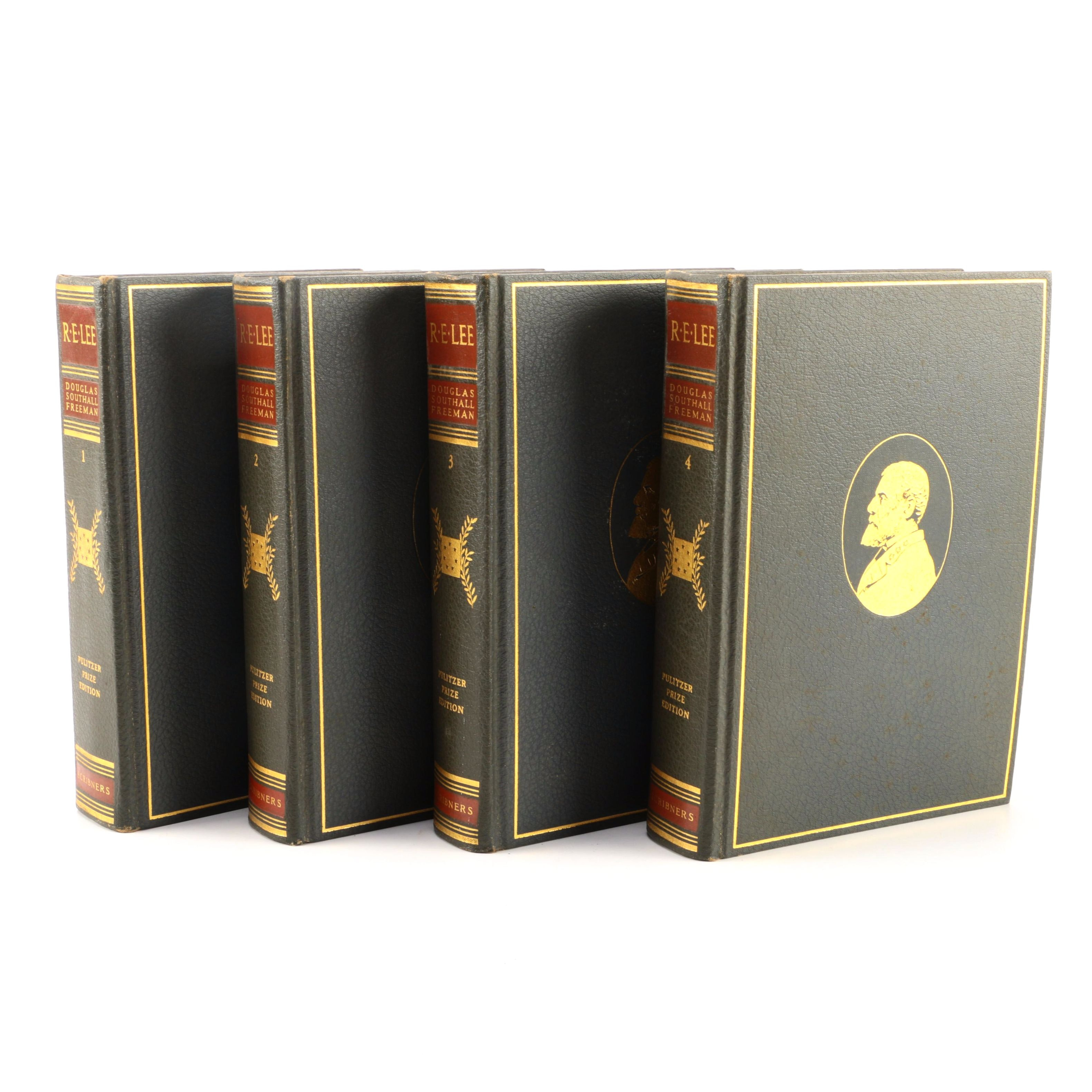 """1936 Four-Volume Pulitzer Prize Edition of """"R. E. Lee: A Biography"""" by Douglas Southall Freeman"""