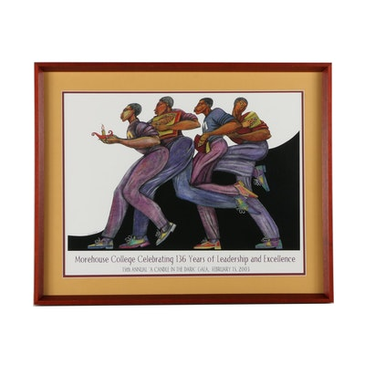 "Morehouse College Gala Offset Lithograph Poster After Charles A. Bibbs's ""From the Dark to the Light"""