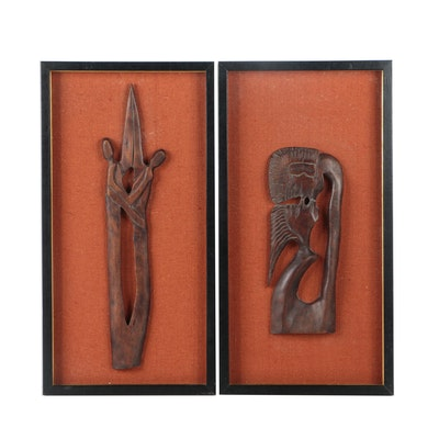 Haitian Wood Carvings of Romantic Couples