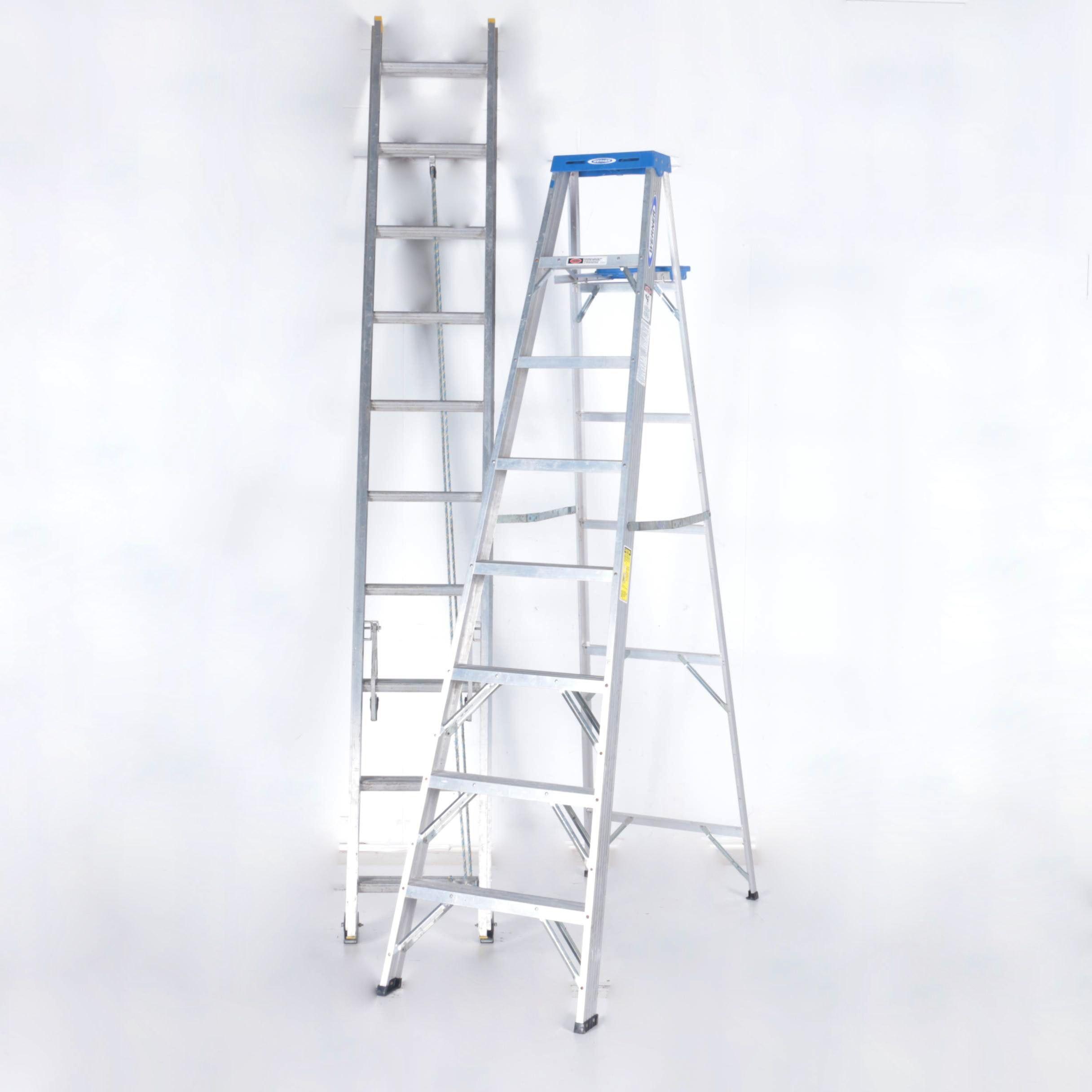 Pair of Industrial Ladders