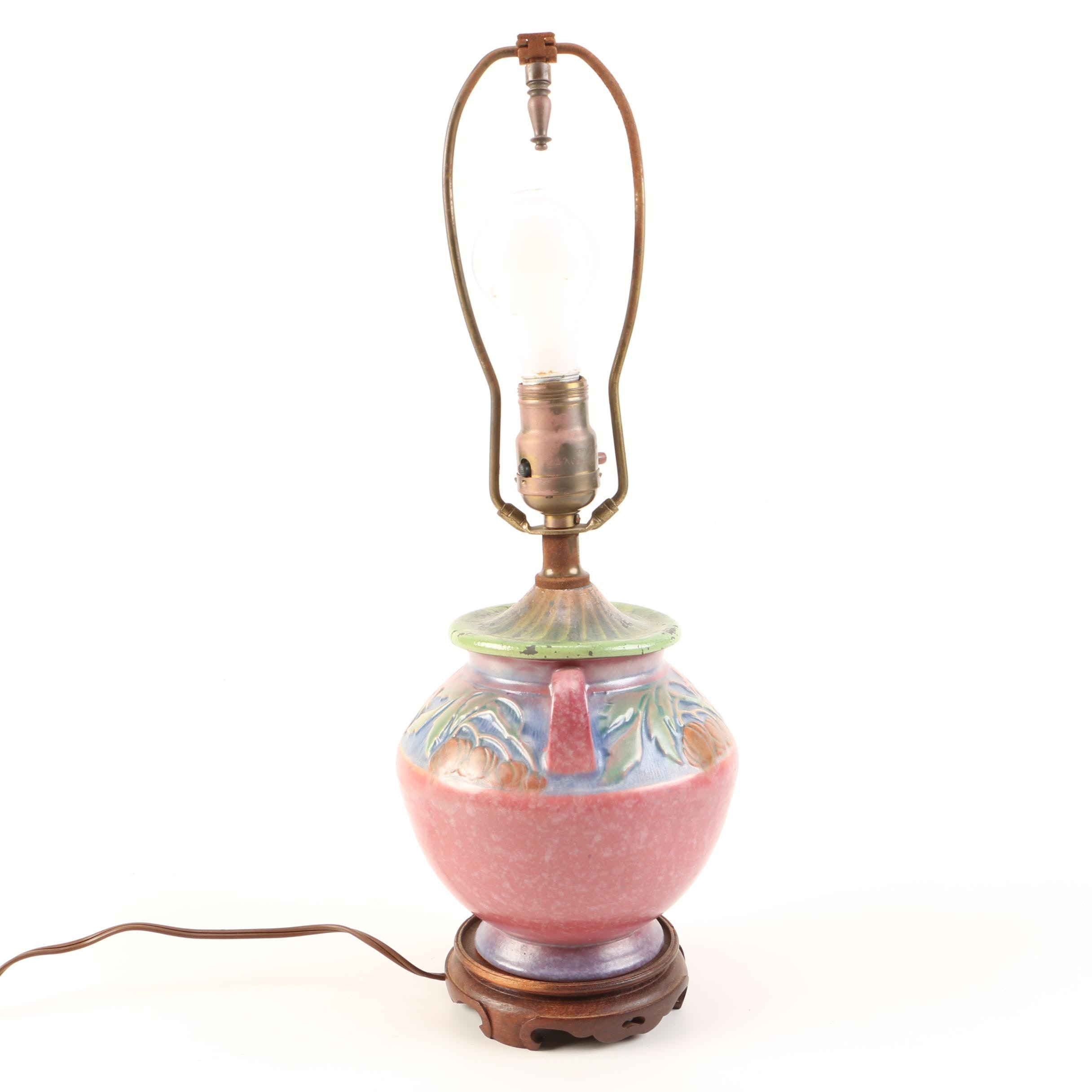 "Roseville Art Pottery ""Baneda"" Lamp"